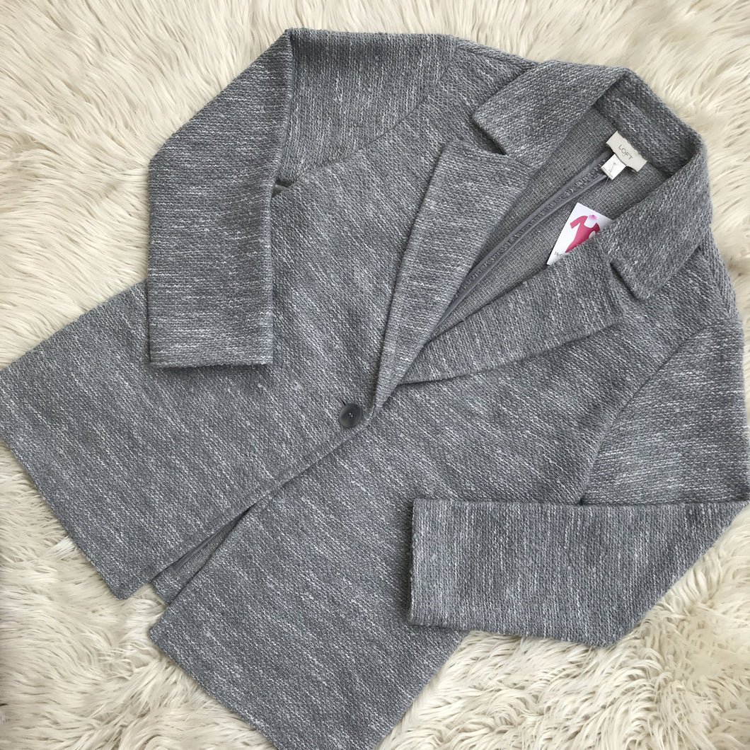 Loft gray lightweight jacket - My Girlfriend's Wardrobe York Pa