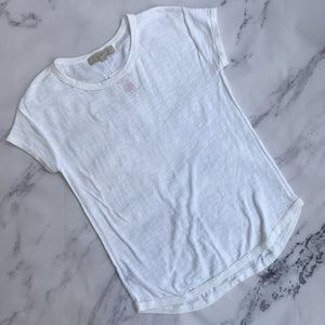 Loft white short sleeve sweater top - My Girlfriend's Wardrobe York Pa