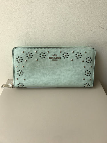 Coach mint Margot zip around wallet - My Girlfriend's Wardrobe