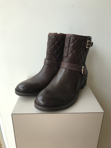 Arturo Chang brown leather short boots size 8.5 NEW - My Girlfriend's Wardrobe