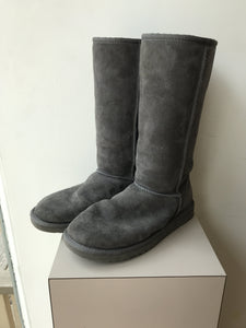 UGG gray classic tall boots size 7 - My Girlfriend's Wardrobe