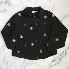 Chico's embellished black denim jacket - My Girlfriend's Wardrobe York Pa
