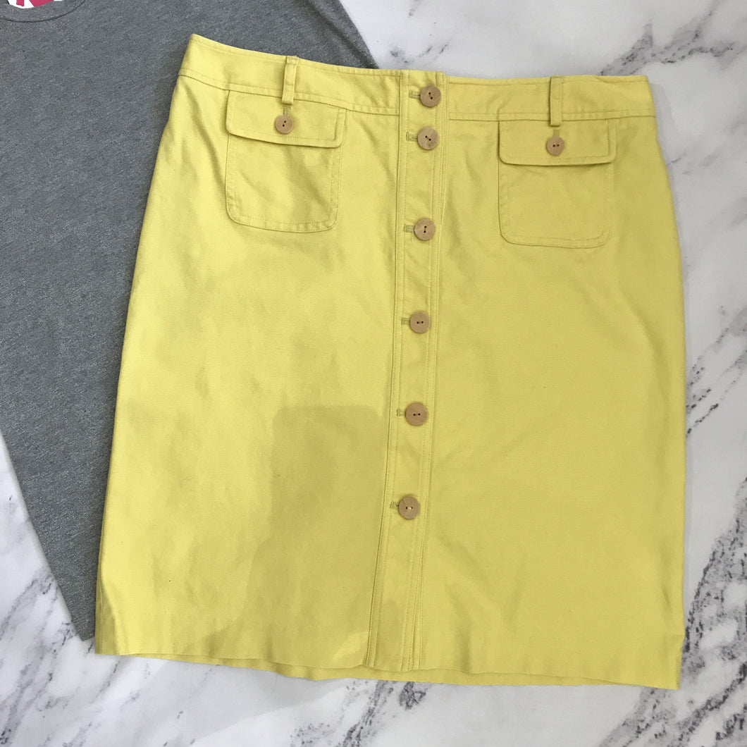J. McLaughlin yellow denim skirt - My Girlfriend's Wardrobe York Pa
