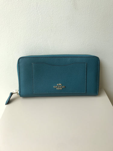 Coach teal leather zip wallet - My Girlfriend's Wardrobe