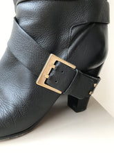 Chloe tall black leather heeled boots size 42 (12) - My Girlfriend's Wardrobe York Pa