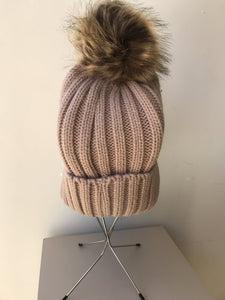 Pearl pom pom beanie hat - My Girlfriend's Wardrobe York Pa