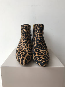 Sam Edelman calf hair leopard print ankle boots size 8 - My Girlfriend's Wardrobe York Pa
