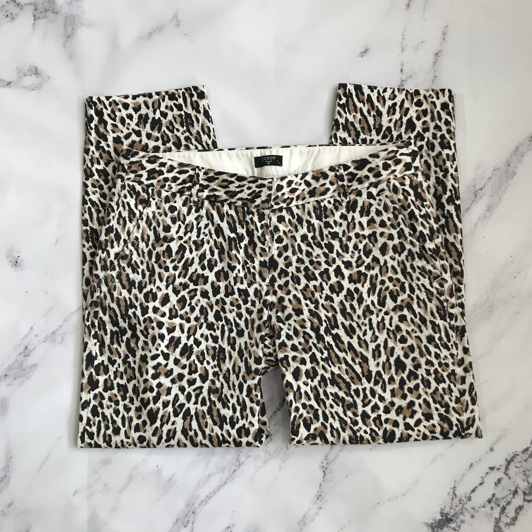 J.Crew city fit leopard print pants - My Girlfriend's Wardrobe York Pa