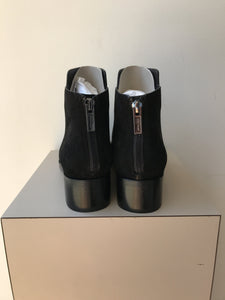 Cole Haan Elion black mixed leather ankle boots size 7.5 NEW - My Girlfriend's Wardrobe York Pa