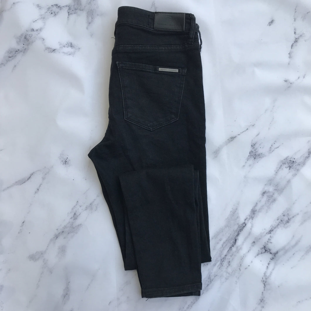 Armani Exchange black skinny jeans - My Girlfriend's Wardrobe York Pa