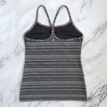 Lululemon gray striped workout tank - My Girlfriend's Wardrobe York Pa