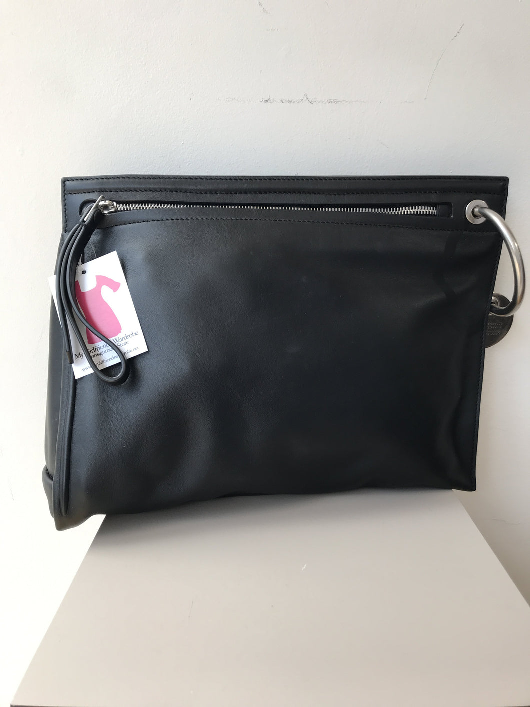 Marc by Marc Jacobs black clutch retail $498 - My Girlfriend's Wardrobe York Pa