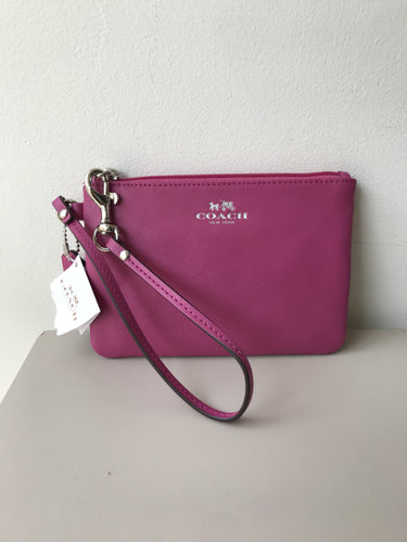 Coach pink leather wristlet NWT - My Girlfriend's Wardrobe