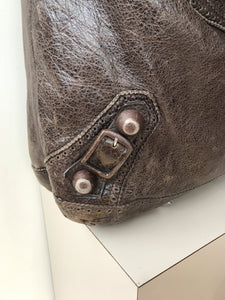Balenciaga brown large giant 21 day GCH shoulder bag - My Girlfriend's Wardrobe