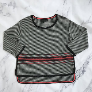 Rag & Bone gray, black, and pink sweater - My Girlfriend's Wardrobe York Pa