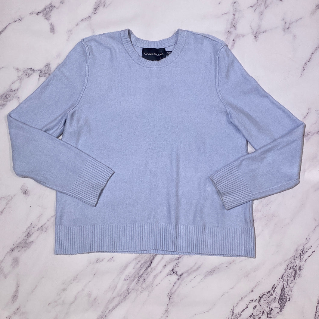 Calvin Klein Jeans light blue sweater size XL