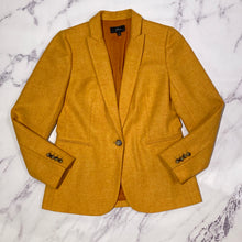 J.Crew orange wool blazer size 8
