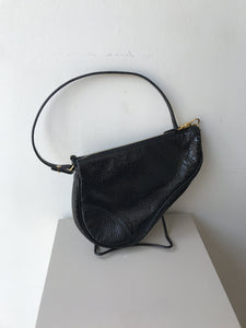 Christian Dior black patent trotter bag - My Girlfriend's Wardrobe