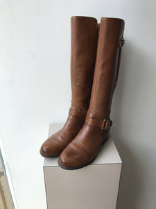 Naturalizer Jillian Knee High Brown Leather Boot size 9 - My Girlfriend's Wardrobe