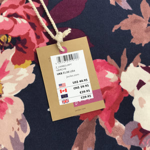 Joules navy and pink floral top NWT - My Girlfriend's Wardrobe York Pa