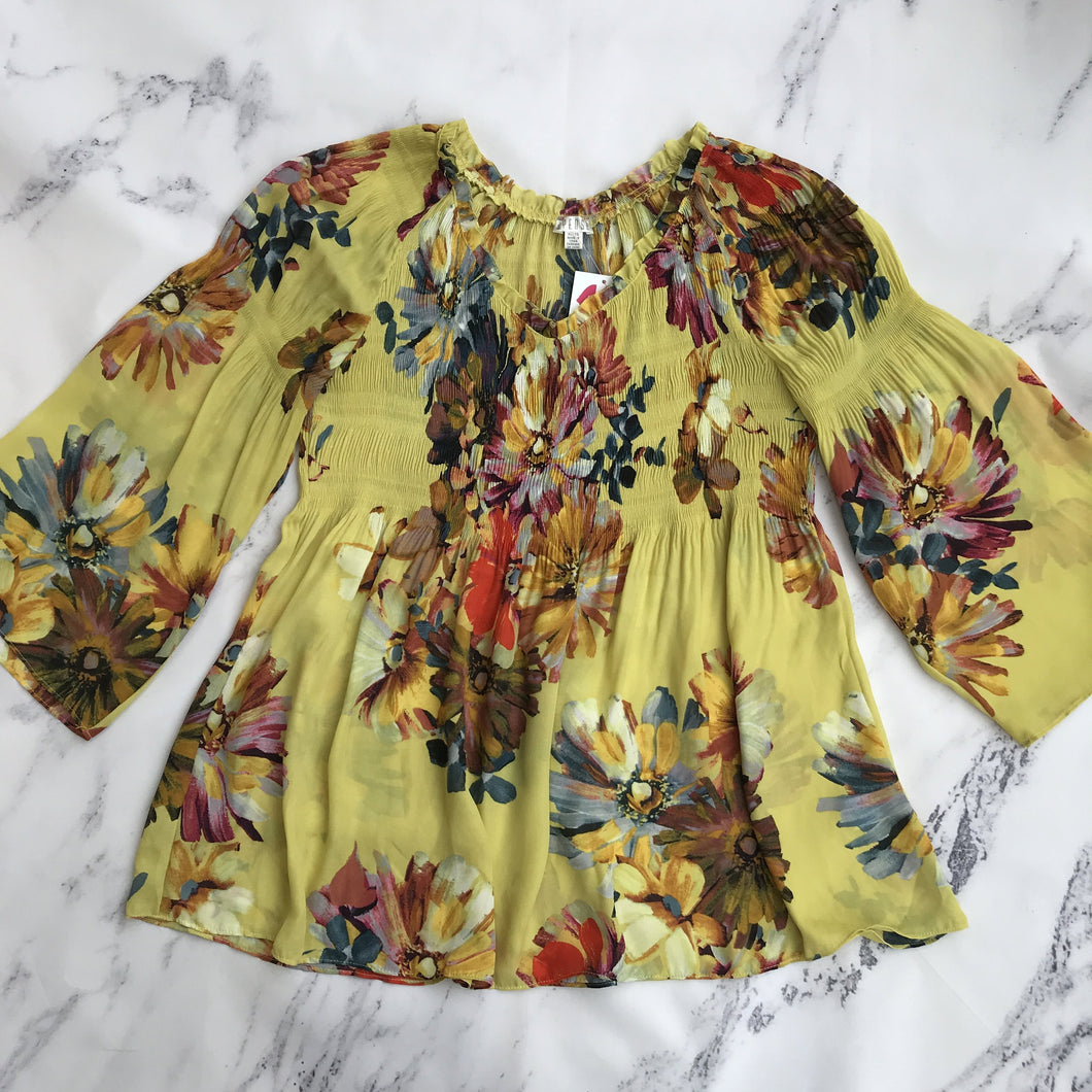 Spense multi color floral top - My Girlfriend's Wardrobe York Pa