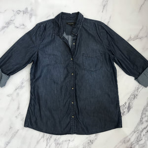 Banana Republic dark wash chambray button up - My Girlfriend's Wardrobe York Pa