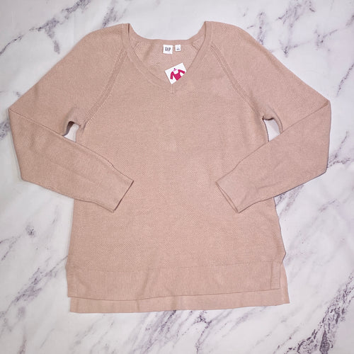Gap light pink long sleeve top size L
