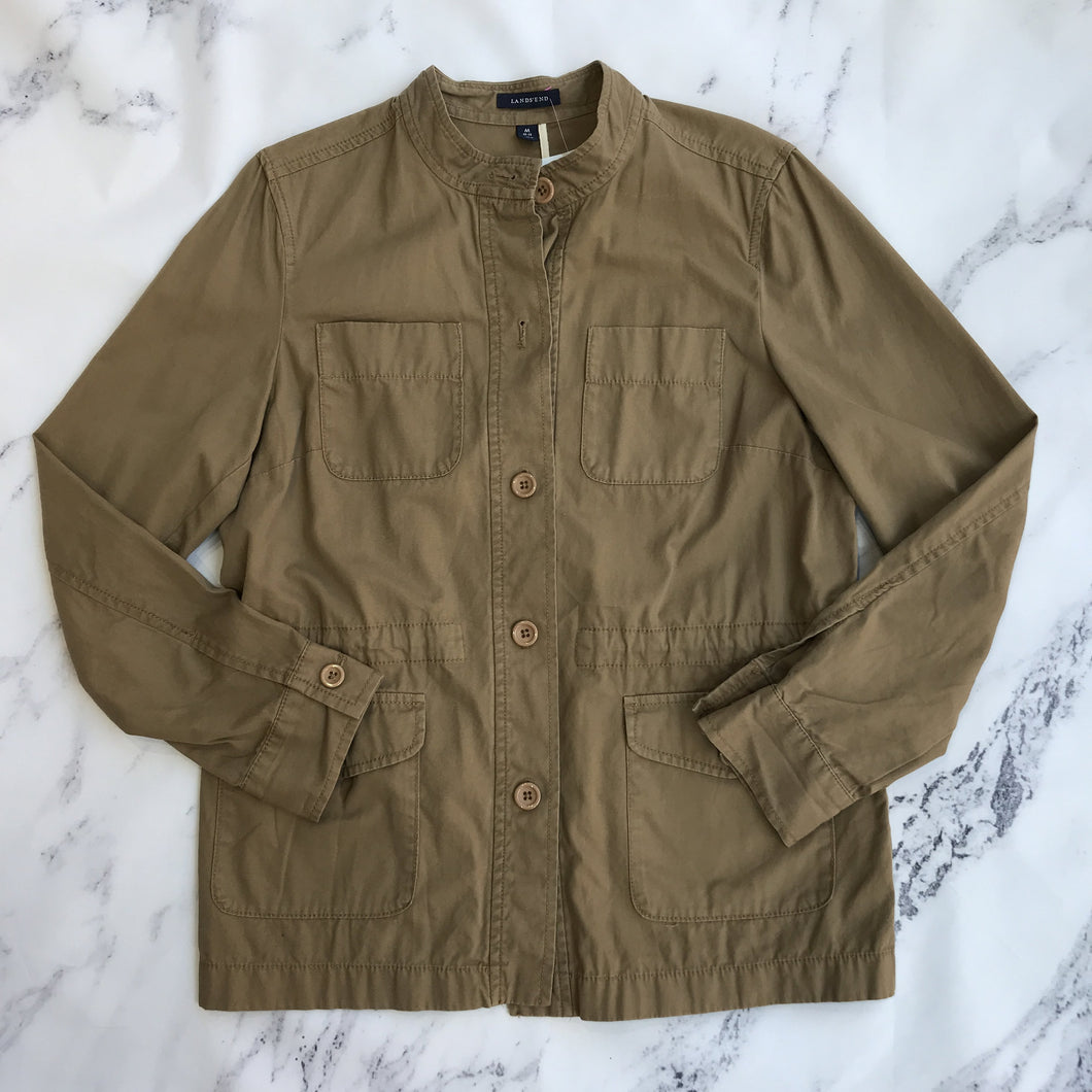 Lands' End tan lightweight jacket - My Girlfriend's Wardrobe York Pa