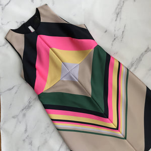 J.Crew Collection multi color tank dress - My Girlfriend's Wardrobe York Pa