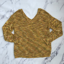 Maurices mustard yellow and multi color sweater - My Girlfriend's Wardrobe York Pa