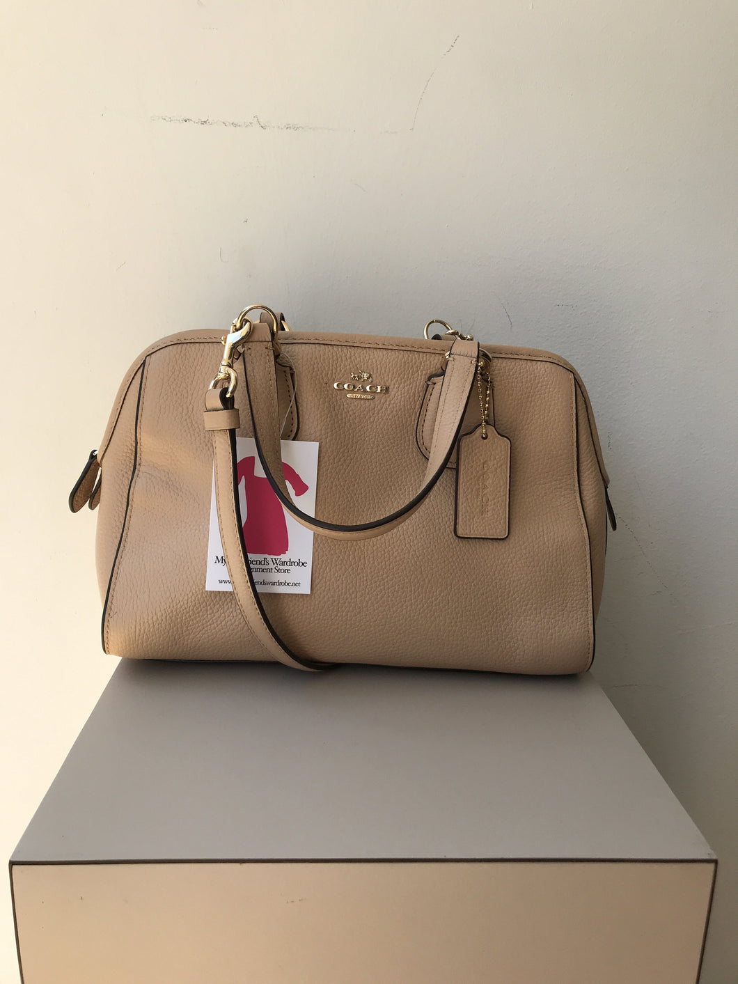 Coach light peach leather satchel 33735M - My Girlfriend's Wardrobe York Pa