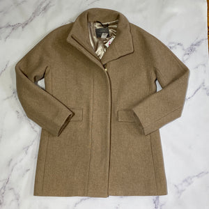 J.Crew Stadium Cloth by Nello Gori beige jacket size 6