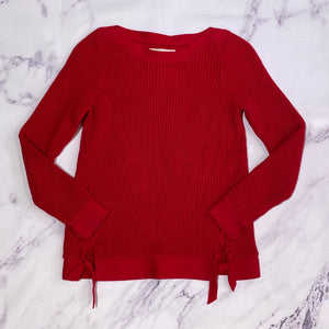 Loft red sweater size XS