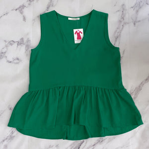 Caramela green peplum tank - My Girlfriend's Wardrobe York Pa