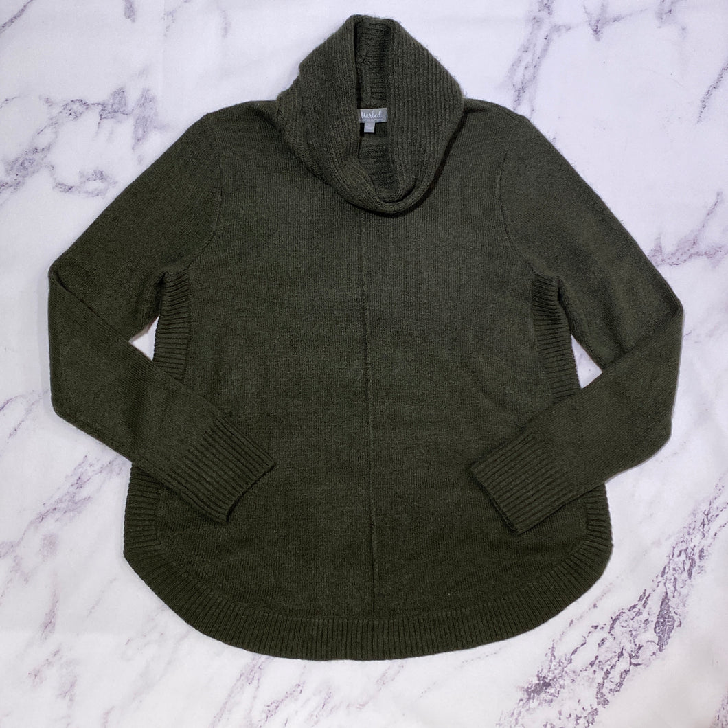 Marled olive sweater size XL