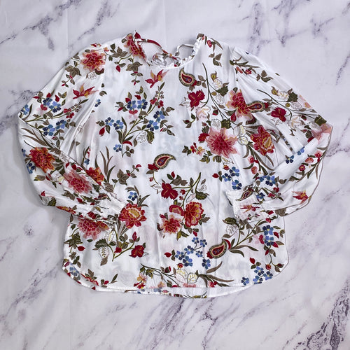 Loft multi color floral top size M
