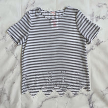 Pixley black and white striped top size S