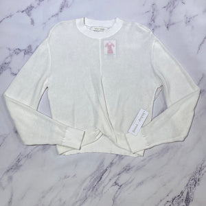 Bishop + Young cream cropped sweater NWT