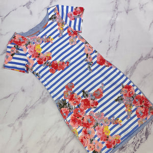 Joules ottie floral striped dress size 4 NWT