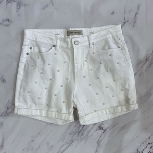 Liverpool white denim pearl shorts size 6