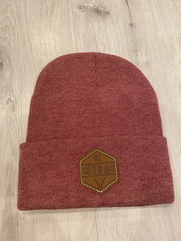 "Heather Red Beanie w/ ""Be Elite"" Patch"