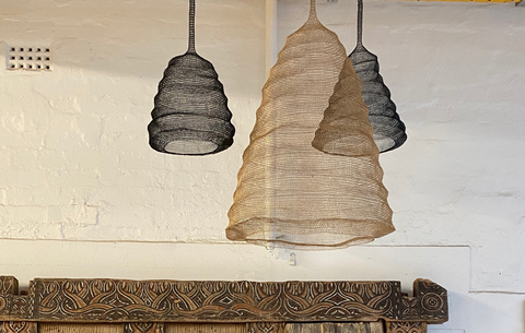 Balinese furniture lampshades