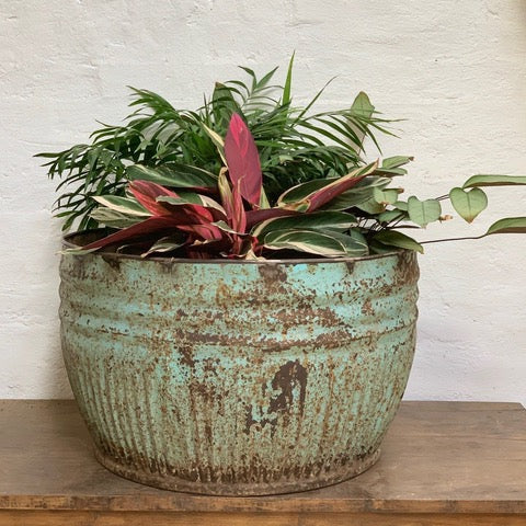 Vintage iron pots from India