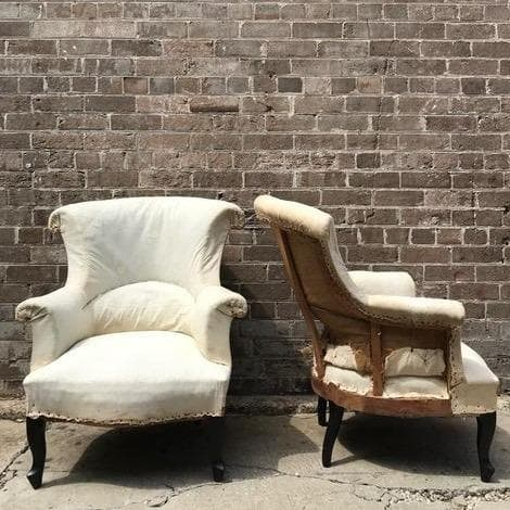 Antique cream French chairs from Marseille.