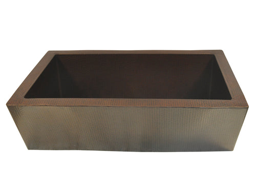 043 Copper Farmhouse Kitchen Sink  Zuma Design 33 X 22 X 10.5