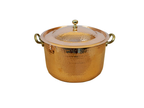 Brass Smooth Round Bath Sink High Bright