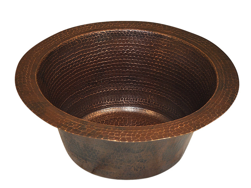 003 Copper Round Bar Veggie Sink 16 X 16 X 7