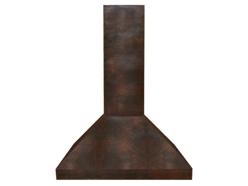 010 Copper Range Hood Wall Mount Long 48 X 24 X 36