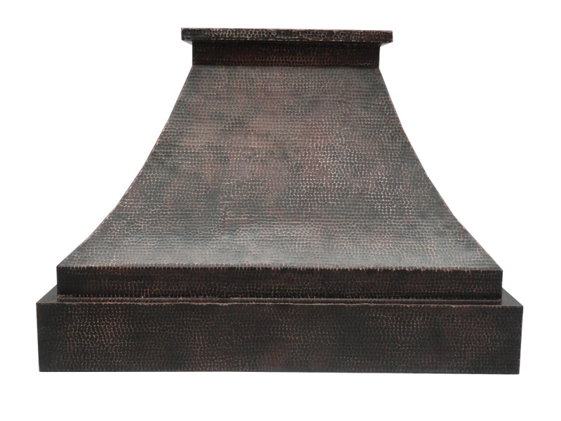 003 Copper Range Hood Wall Mount Pyramid 31.5 X 23.5 X 31.5