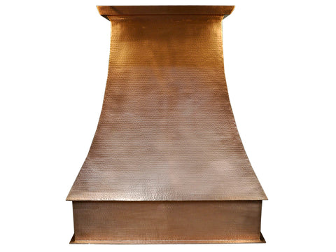 002 Copper Range Hood Wall Mount King 36 X 20 X 30